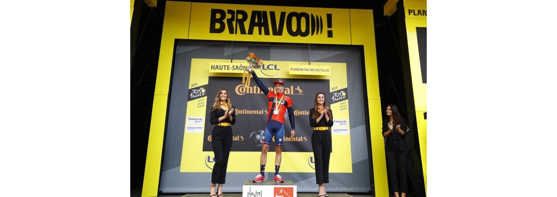 Dylan Teuns vinder den første bjergetape i Tour de France