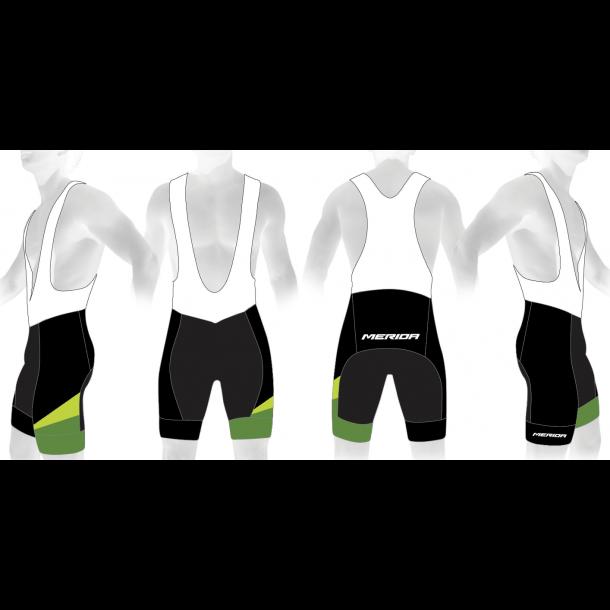 Merida Bib-shorts, Sort-grøn